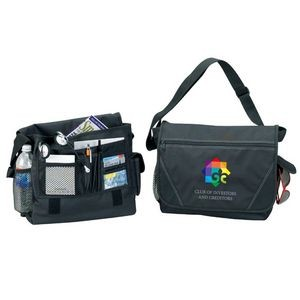600D Poly W/PVC Backing Briefcase